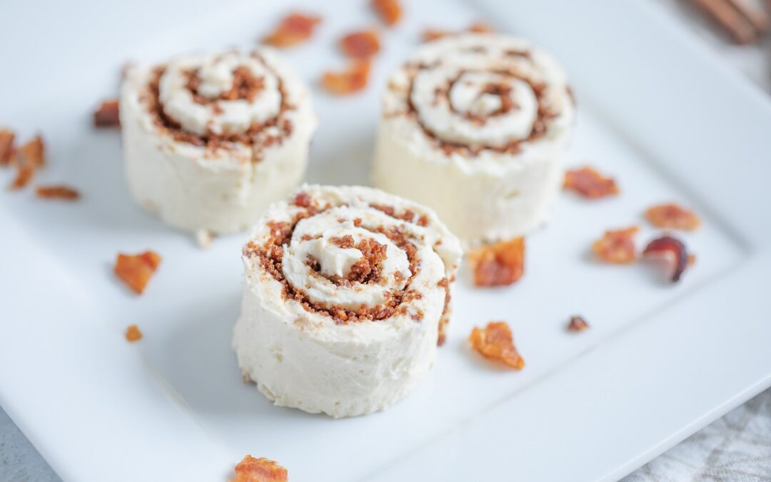 Keto Cinnamon Roll Bites With Bacon
