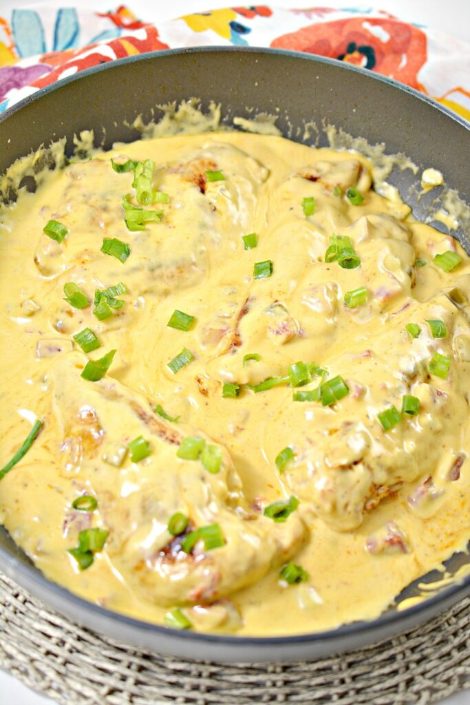 Queso Chicken in pan