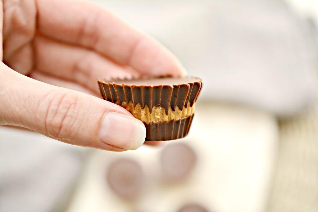 Keto Peanut Butter Cup closeup