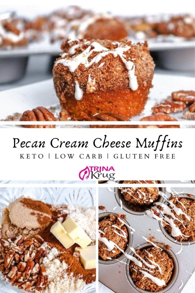 Keto Cream Cheese Muffins Witih Pecans