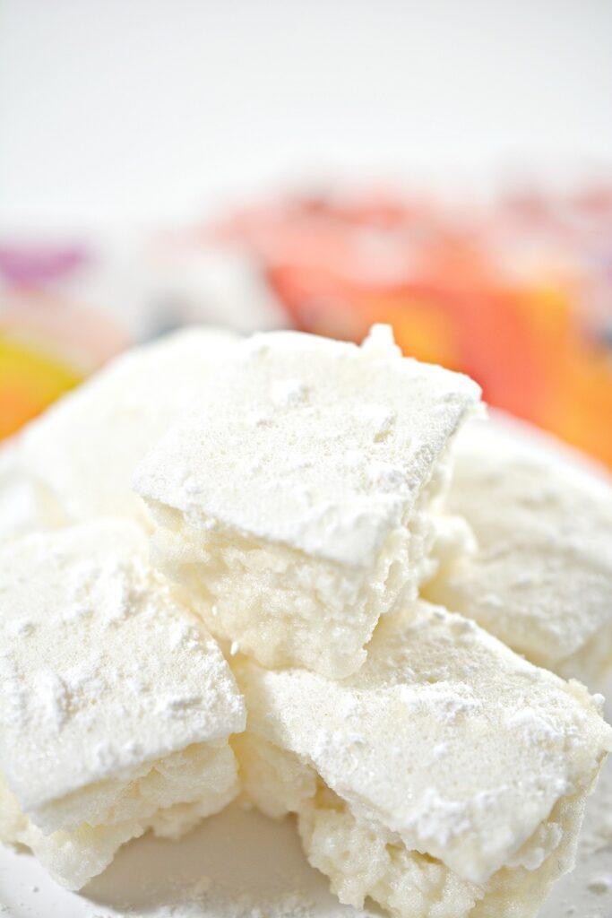 Keto Marshmallows on white plate