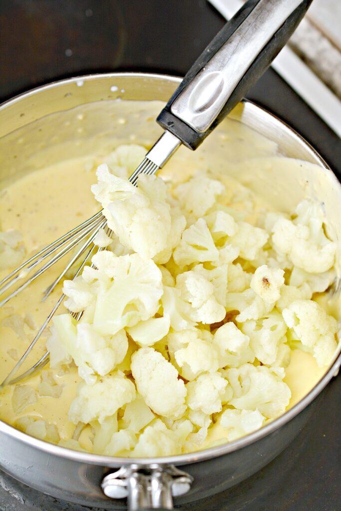 Keto Cauliflower Mac and Cheese ingredients