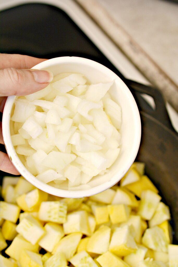 Keto Squash Casserole Ingredients