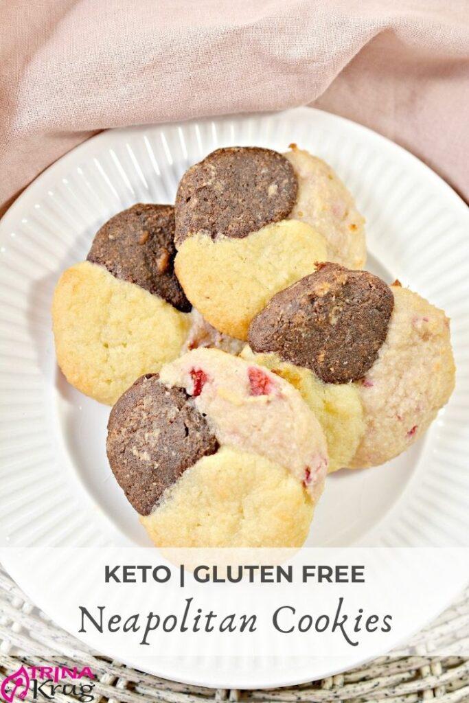 Keto Neapolitan Cookies