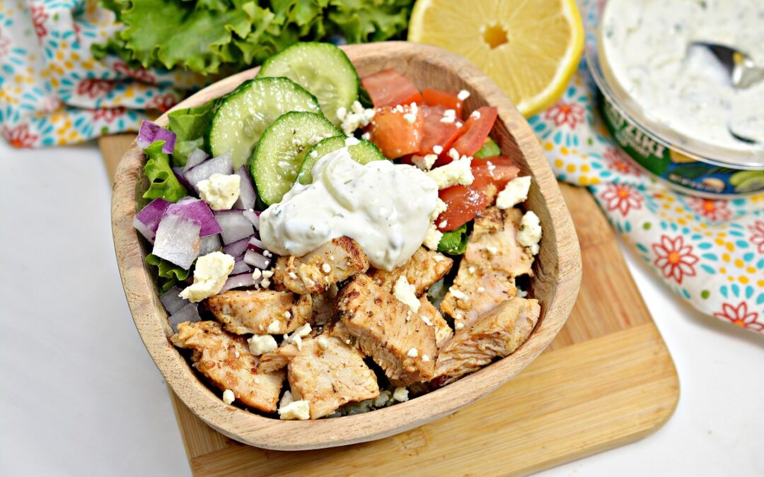 Chicken Mediterranean Bowl (Keto | Gluten Free)