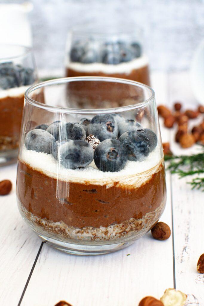 Toasted Hazelnut and Chocolate Dessert Cups