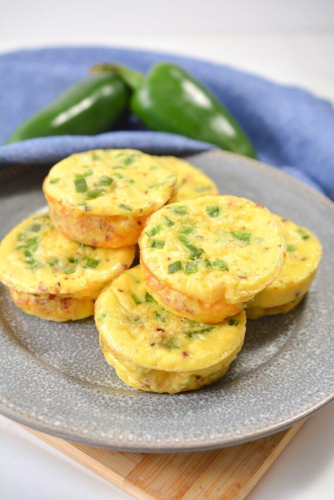 Keto Jalapeno Popper Egg Cups on plate