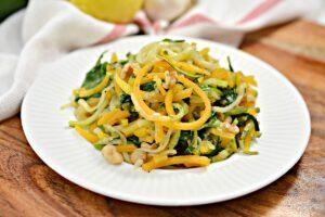 Vegan Pasta on white plate