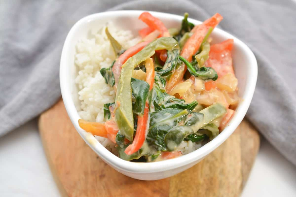 Vegan Thai Curry in white bowl