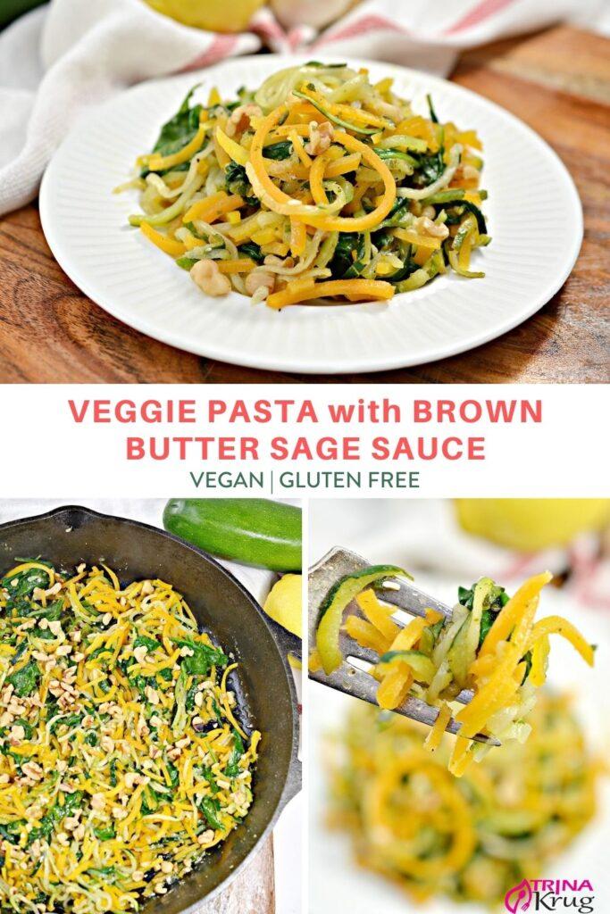 Vegan Pasta with Brown Butter Sage Sauce