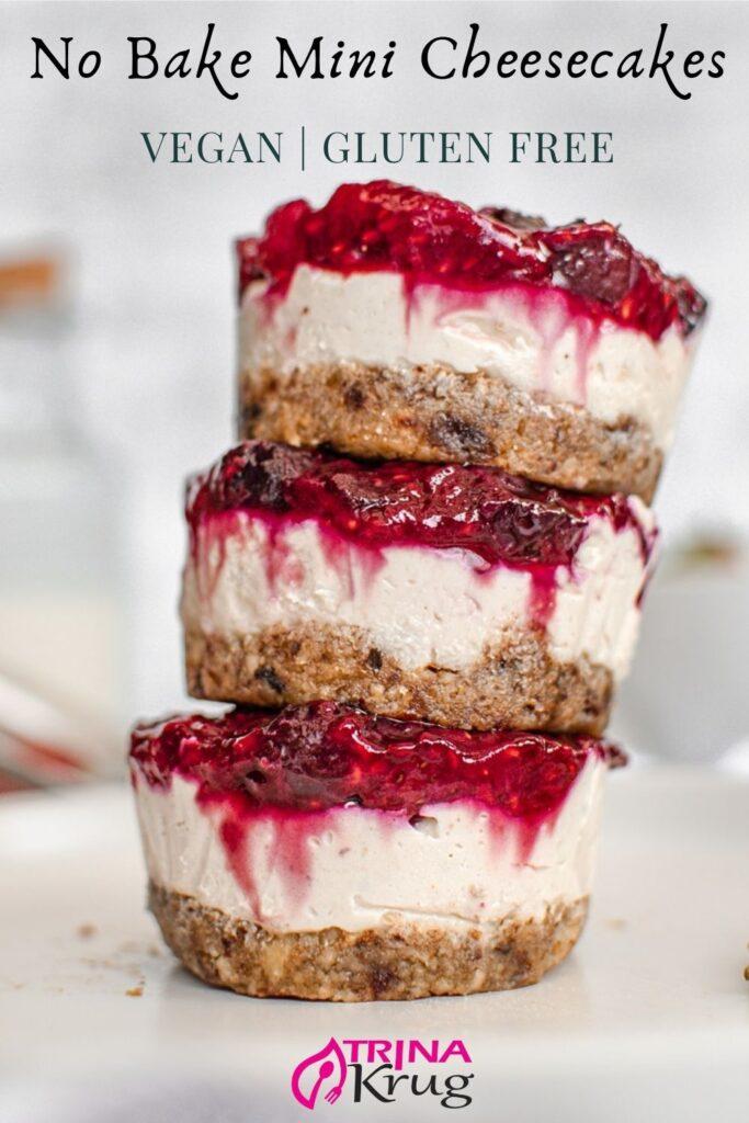 Vegan No Bake Mini Cheesecakes
