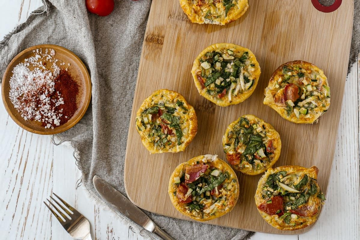 Zucchini Egg Cups on board