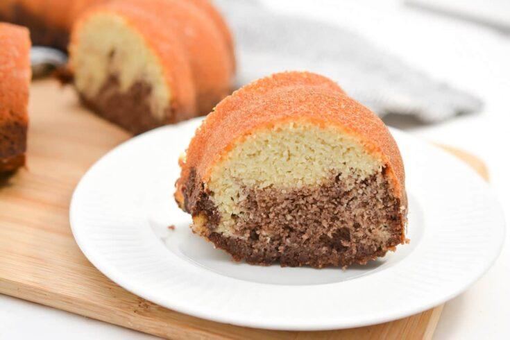 Keto Marble Bundt Cake
