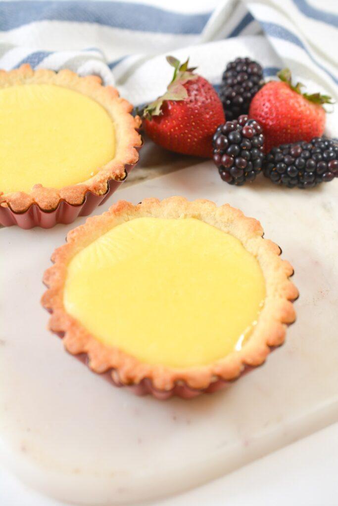 Lemon Curd Keto Tarts