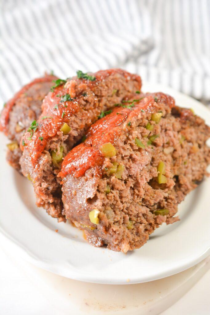Keto Meatloaf Slices