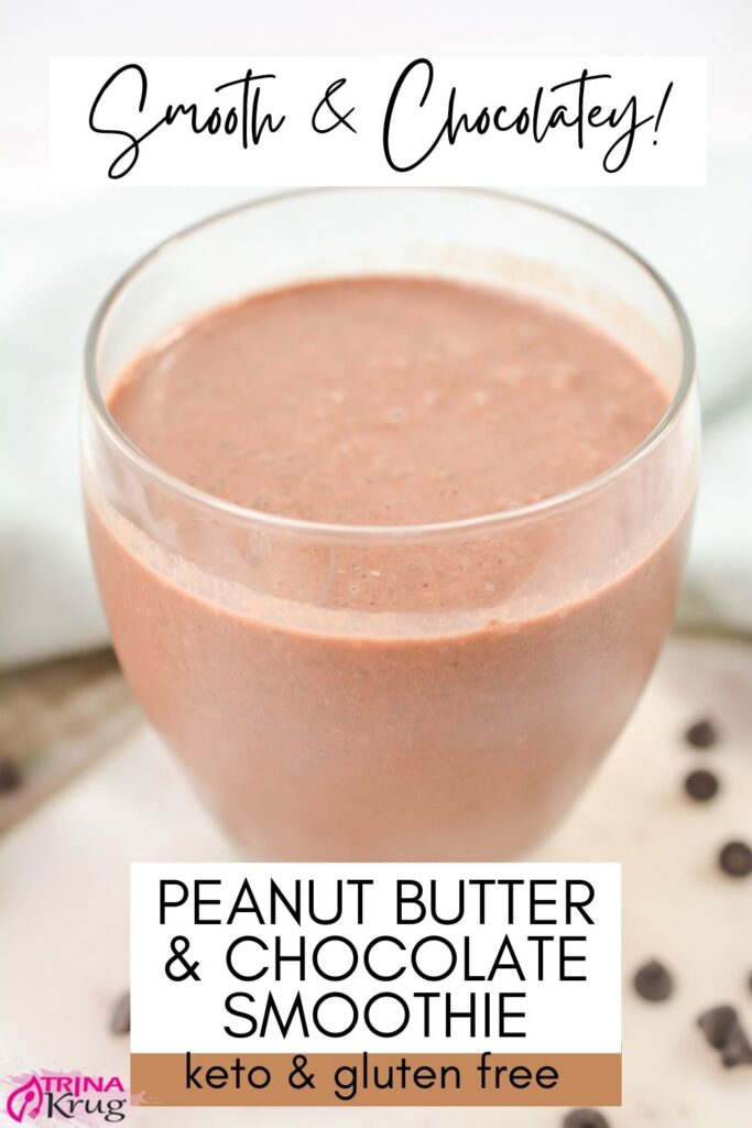 Keto Chocolate Peanut Butter Smoothie