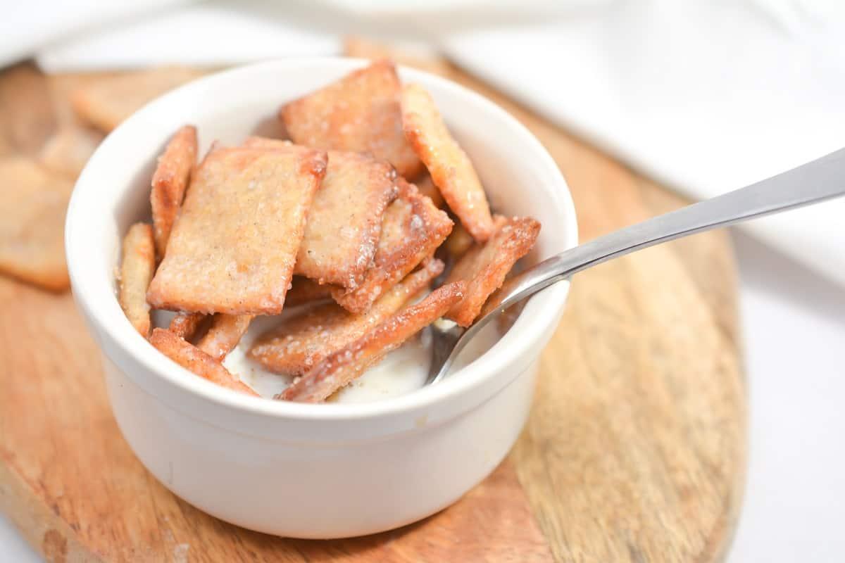 Keto Breakfast Cereal in white bowl