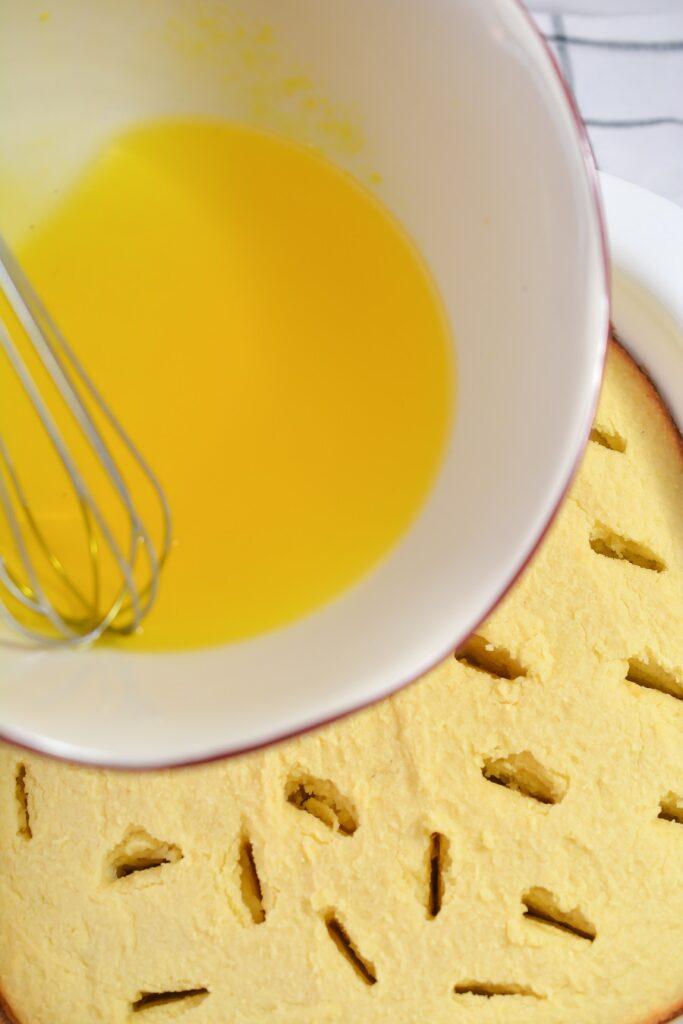 How to Make Keto Lemon Poke Cake