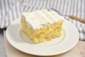Keto Lemon Poke Cake