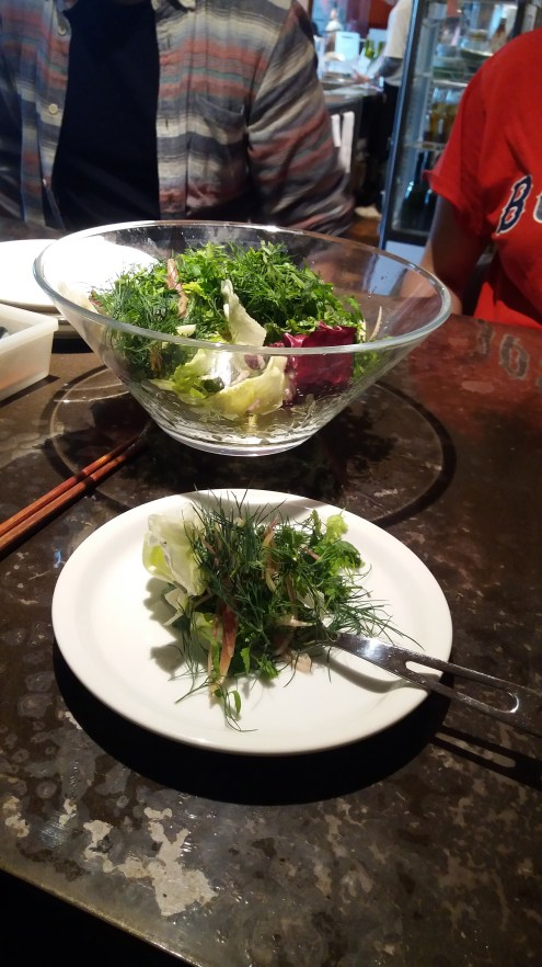 'Herb salad' served during lunch out with fellow teachers... herby indeed.