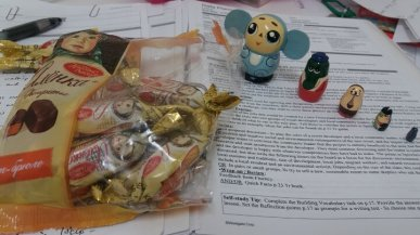 Goodies from Russian courtesy of Ichiro! Bloody yummy chocs actually.