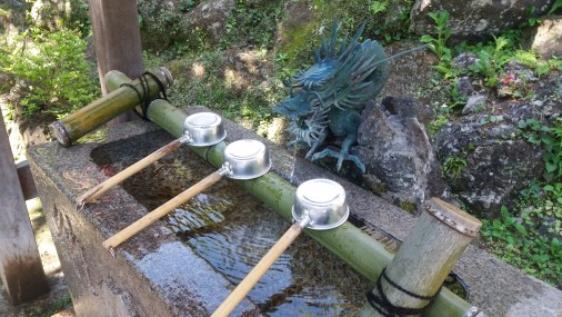 Gotta purify yourself before approaching the shrine innit. If you don't the dragon guardian comes alive and bites your hands off.