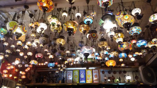 Turkish restaurant with lantern-infested ceiling