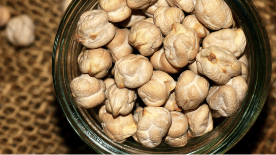 Chickpeas in a bowl.