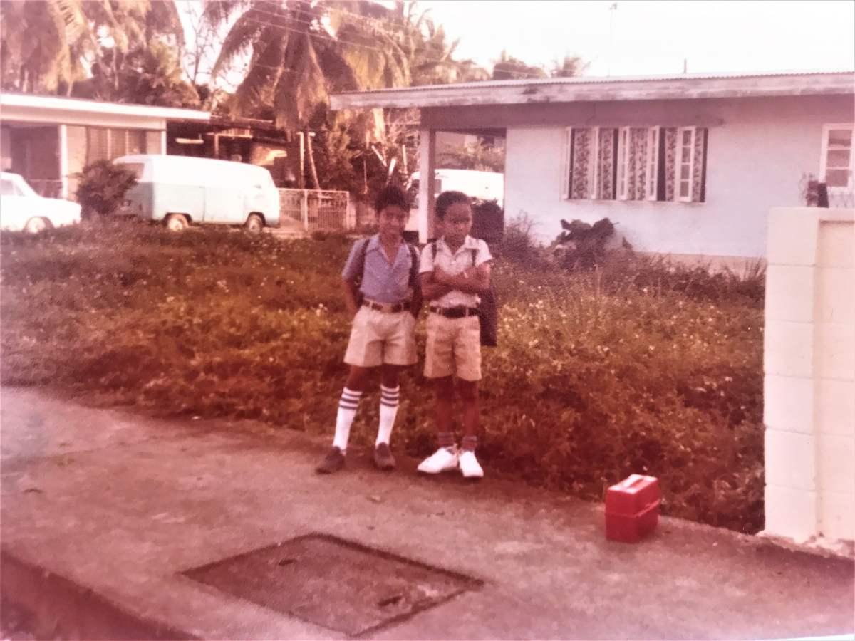 David and I Victory Street Trinidad