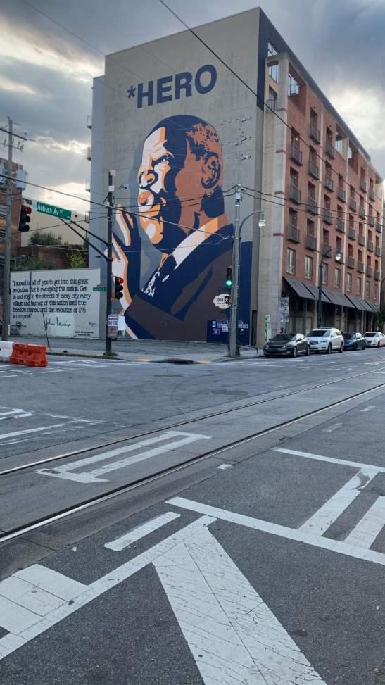 John Lewis mural on Auburn, Avenue.
