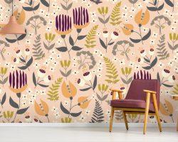 'Organic Interweaving' Wallpaper Mural by The Tiny Garden at Wallsauce.com