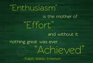 Enthusiasm Matters in Creative Pursuits