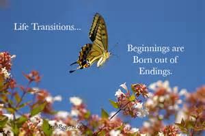 beginnings out of endings