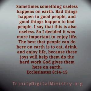 Ecclesiastes 8:;14-15 image