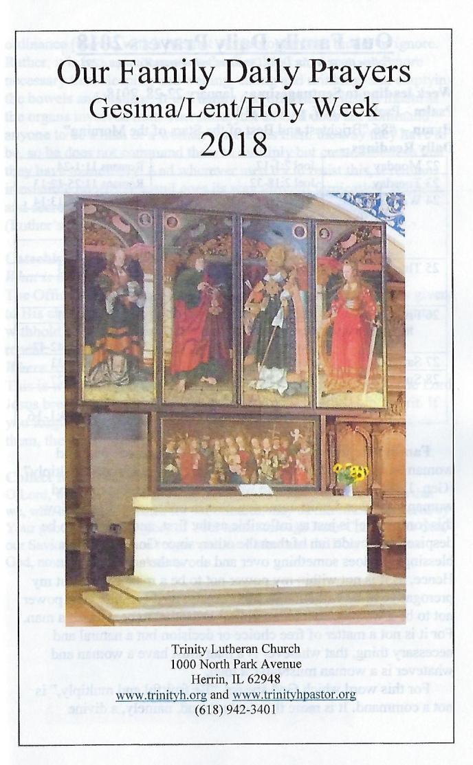 OFDP 2018 Gesima Lent cover
