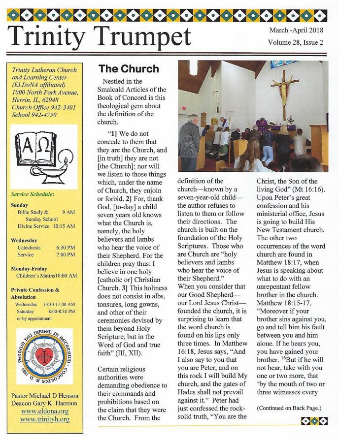 Newletter Mar Apr 2018 page 1