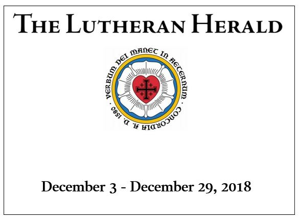 Lutheran Herald Dec 3 29 2018