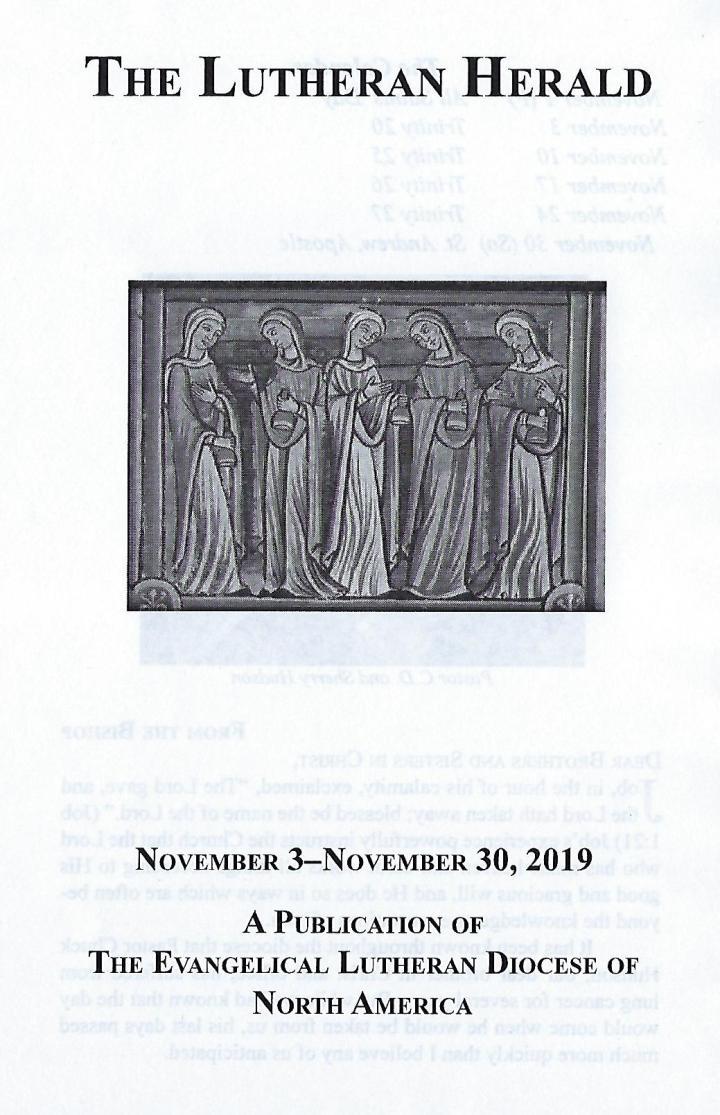 Lutheran Herald Cover Nov 2019