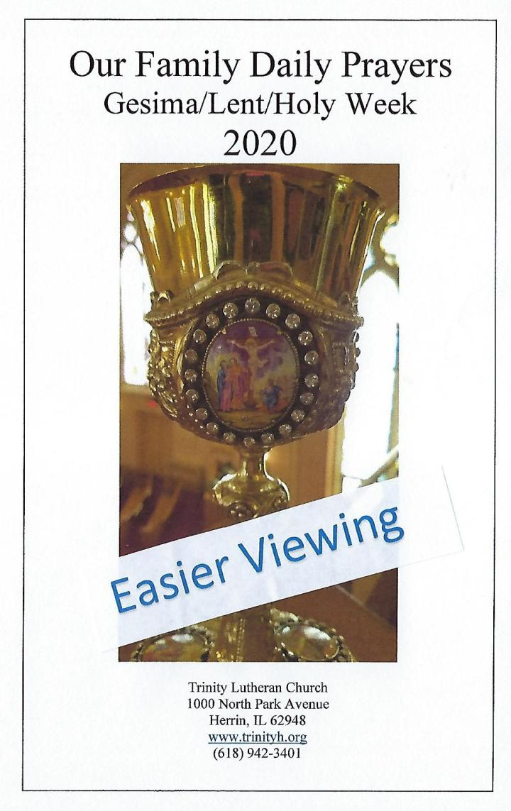 OFDP Cover Booklet Easier Gesima to Easter 1 2020