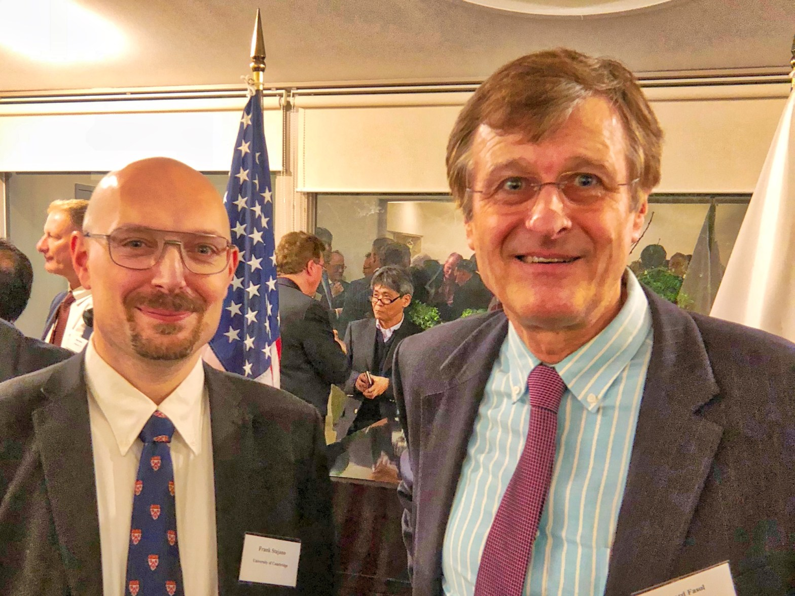 Professor Frank Stajano, Fellow, and Gerhard Fasol at the cyber security conference in Tokyo on 28 March 2018