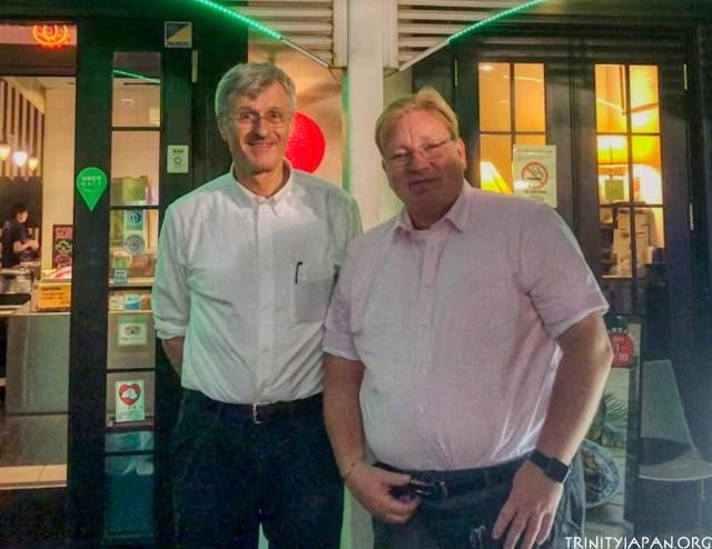 Mikael Adolphson (r) and Gerhard Fasol (l)