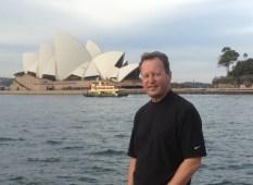 Peter on an exam tour break in Sydney, Australia