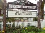 Trinity Nursery sign board