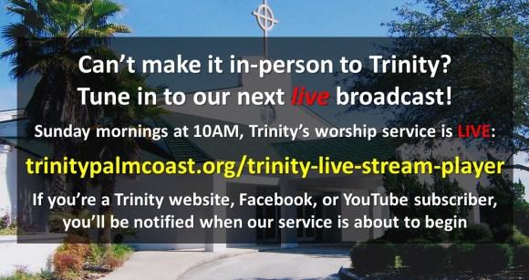 Live Worship Service Broadcast Reminder