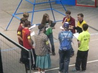 Captain Discussing Before Competition Begins