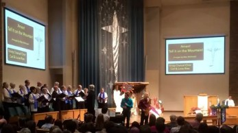 Choir and guest musicians