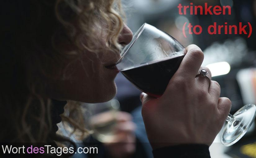 Ich trinke lieber, wo es ruhiger ist.