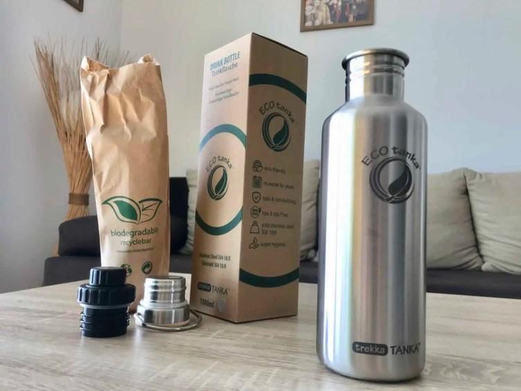 ECOtanka nachhaltige Edelstahl Trinkflasche Verpackung