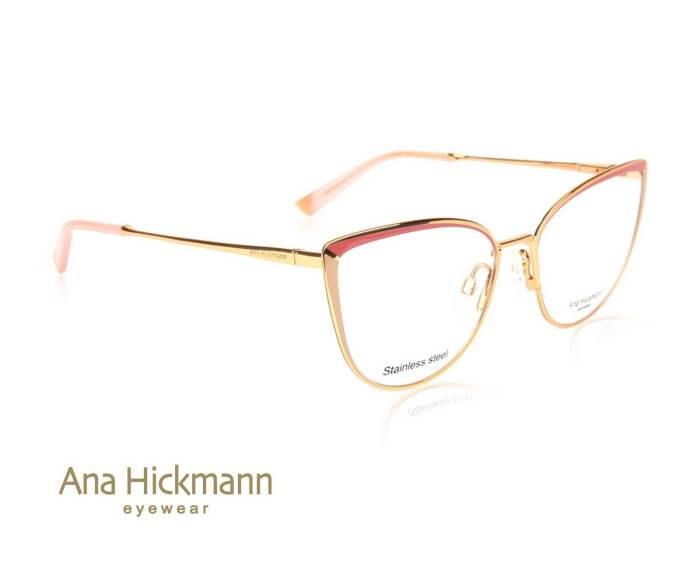 Ana Hickmann AH1374 in Gold/Taro Milk/Shiny Brown Pink