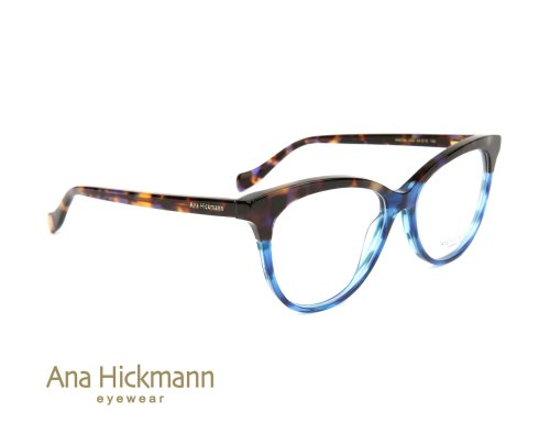 Ana Hickmann AH6334 Multicolour Havana Gradient Blue Striped